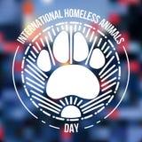Międzynarodowy bezdomny zwierzę dzień Obrazy Stock
