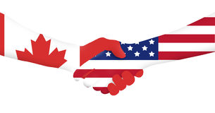Międzynarodowy biznes usa - Kanada - obrazy royalty free
