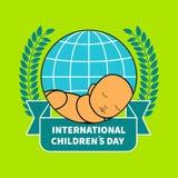 Międzynarodowy children dzień ilustracja wektor