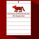 Międzynarodowy Czerwonej pandy dzień Obraz Stock