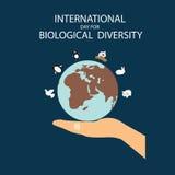 Międzynarodowy dzień dla Biologicznej różnorodności ilustracja wektor