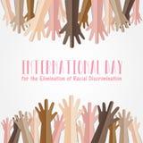 Międzynarodowy dzień dla eliminaci dyskryminacja rasowa ilustracji