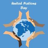 Międzynarodowy dzień Narody Zjednoczone tło Fotografia Stock