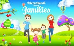 Międzynarodowy dzień rodziny royalty ilustracja