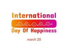 Międzynarodowy dzień szczęście Zdjęcie Royalty Free