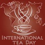 Międzynarodowy herbaciany dzień Obrazy Royalty Free