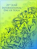 Międzynarodowy joga dzień Obrazy Royalty Free