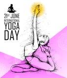 Międzynarodowy joga dzień Zdjęcie Royalty Free