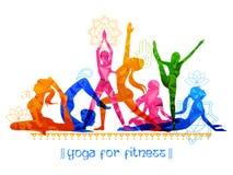 Międzynarodowy joga dzień Obraz Royalty Free
