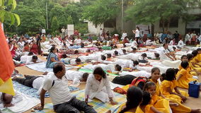 Międzynarodowy joga dzień 2017 Zdjęcie Stock