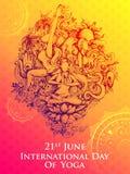 Międzynarodowy joga dzień na 21st Czerwu Ilustracja Wektor