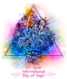 Międzynarodowy joga dzień na 21st Czerwu Fotografia Stock