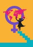 Międzynarodowy kobieta dnia wizerunek lub dobra o kobiety pojęciu Editable klamerki sztuka ilustracji