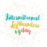 Międzynarodowy Lefthanders dzień Zdjęcia Royalty Free