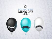 Międzynarodowy mężczyzna ` s dzień lub ojca ` s dnia wektoru kartka z pozdrowieniami Zdjęcia Royalty Free