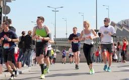Międzynarodowy maraton w mieście Zdjęcie Stock
