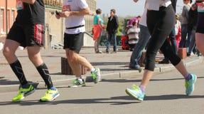 Międzynarodowy maraton w mieście Obrazy Stock