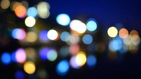 Międzynarodowy miasto przy nocą