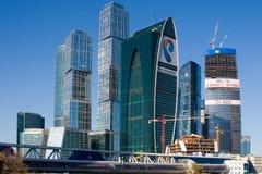 Międzynarodowy Moskwa Centrum Biznesu, miasto obrazy royalty free