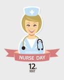 Międzynarodowy pielęgniarka dzień Maj 12th Obrazy Royalty Free