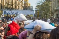 Międzynarodowy poduszki walki dzień 2016 Obrazy Royalty Free