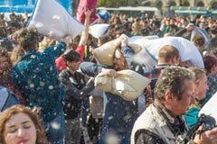 Międzynarodowy poduszki walki dzień 2016 Zdjęcie Royalty Free