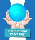 Międzynarodowy pokoju dzień Września 21st tła szablon dla plakata lub sztandaru projekta Pokojowa planety ziemia w istocie ludzki ilustracji