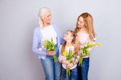 Międzynarodowy powitanie babci babci mama mamy mum mamuś mama f Obrazy Stock