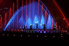 Międzynarodowy przedstawienie okrąg światło w Moskwa Obrazy Stock
