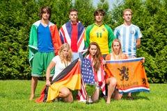 Międzynarodowy sportsteam Obraz Royalty Free