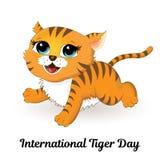 Międzynarodowy Tygrysi dzień royalty ilustracja