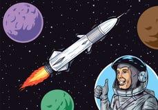 Międzyplanetarna podróż royalty ilustracja