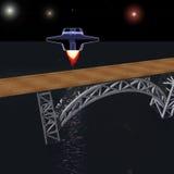 Międzyplanetarny statek kosmiczny ilustracji