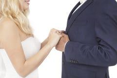 Międzyrasowy para ślub Obrazy Stock