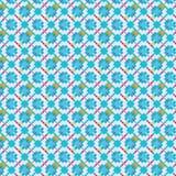 Miękcy błękitów kwadraty i karowy bezszwowy wzór ilustracji