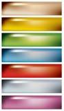Miękcy kolorów sztandary Fotografia Royalty Free
