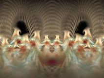 Miękcy kolorowi filary lekki płomienia fractal ilustracji