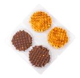 Miękcy opłatki z czekoladą zdjęcia royalty free