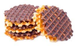 Miękcy opłatki z czekoladą zdjęcia stock