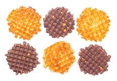 Miękcy opłatki z czekoladą obrazy royalty free