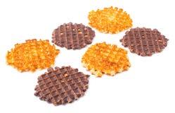 Miękcy opłatki z czekoladą obraz royalty free