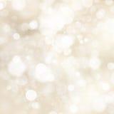 Miękcy złoci abstrakcjonistyczni bożonarodzeniowe światła 10 eps royalty ilustracja