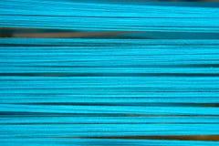 Miękka Błękitna bawełniana nić dla abstrakcjonistycznego tła Fotografia Royalty Free