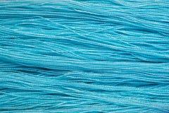 Miękka Błękitna bawełniana nić dla abstrakcjonistycznego tła Obrazy Stock