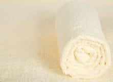 Miękka część, puszysty ręcznik przeciw Terry płótnu obrazy stock