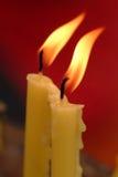 Miękka część skupiająca się świeczki światło Złoty światło świeczka płomień Obraz Stock