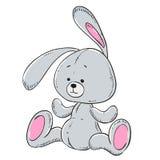 Miękka część zabawkarski pluszowy królik Zdjęcia Royalty Free