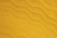 Miękka kolor żółty fala jest jak Plażowy piasek tekstury abstrakta tło Fotografia Stock