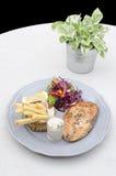Miękka ostrość i jaskrawy rybi stek Zdjęcie Royalty Free
