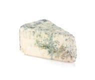 Miękki błękitny ser kawałek Zdjęcia Stock